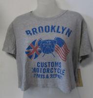 NWT Denim & Supply Ralph Lauren Crop Top Shirt Brooklyn Motorcycle Size XL