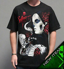 Authentic Sullen Clothing Deadly Serpent Rose Punk Goth Tattoo Scene Shirt Xl