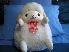 Wooly Lovely Face White Sheep Smiling Plush 40cm Plush Amuse Alpacasso Rilakkuma