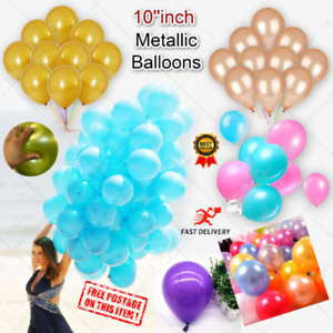 "10-100 Pearl LATEX BALLOONS,10"", Helium Christening Party, Birthday, Ballon UK"