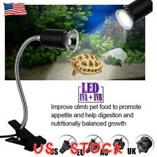 For Pet Reptile Turtle Heat Uva+Uvb Lamp Bulb Heating Light Holder Clip Holder