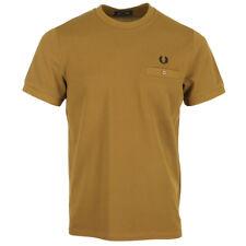 Vêtement T-Shirts Fred Perry homme Pocket Detail Pique Shirt taille Marron