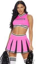 Sexy Forplay SCORE! Pink & Black Sports Cheerleader 4pc Costume 550331