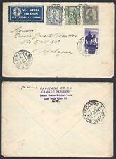 STORIA POSTALE Colonie LIBIA 1936 Lettera PA da PM 109 a Bologna (Z3)