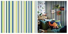 Arthouse Earn Your Stripes Kids Blue Green Grey White Wallpaper, 668700