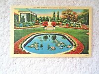 """Vintage """" NOS """" # 44917 Lily Pond Eastman House Gardens Rochester N.Y. Postcard"""
