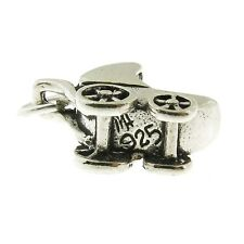 925 Sterling Silver Baby Stroller Carriage Charm Made in USA