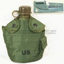 NEW US Military Army Surplus 1 QT CANTEEN w/ OD COVER & FREE P-38 CAN OPENER