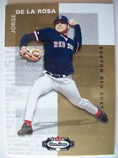 2002 FLEER BOXSCORE ROOKIE JORGE DE LA ROSA # 129  RED SOX     BOX # 48