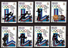 BELIZE Serie de 8 timbres oblitérés N°A66  Lake Placid 1980 Bien coté  169T1