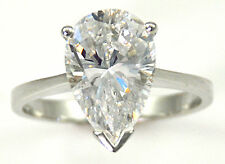 1 ct Pear Ring Vintage Brilliant Top Russian CZ  Moissanite Simulant Size 6