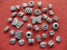 100 Mixed Job Lots Tibetan Silver Beads Useful Sizes