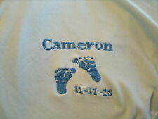 Feet Personalized Baby Toddler Infant Blanket Cute Baby Feet with Date
