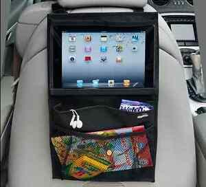 "Car Back Seat Organiser Travel Tablet Storage Bag iPad Pro 11"" Air 4 Mini Holder"