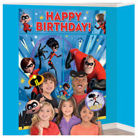 INCREDIBLES 2 SCENE SETTER w/ PROPS (17pc) ~ Birthday Party Supplies Decoration