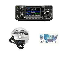 Icom IC-7300 HF/50MHz 100W Base Radio w/ RT Systems Programming Kit Bundle!!