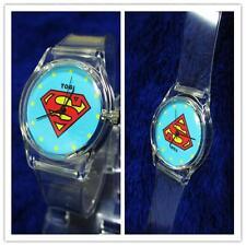 FAW{ION PLASTIC NEW SUPERMAN BOYS W{RLS MENS WOMENS KIDS WRIST PLASTIC WATCH W{,