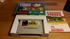 Cannon Fodder Super Nintendo SNES OVP PAL CIB Boxed