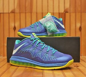 2012 Nike Air Max Lebron X 10 Low Sprite Size 10.5 -Sport Turquoise- 579765 500
