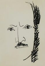 André MARCHAND (1907-1997) Lithographie Portrait de Saint-John Perse 1962