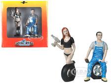 MICHELE AND DEREK TIRE BRIGADE 2 PC FIGURINE SET 1/18 MOTORHEAD MINIATURES 768
