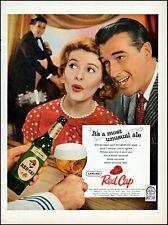 1958 Carling Red Cap Ale Beer man woman nightclub vintage photo print ad adl82