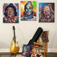 Wizard Of Oz, Painting Set of 3 - Tin Man, Scarecrow, Cowardly Lion - Fine Art