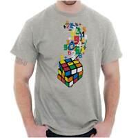 Official Rubiks Cube Sheldon Math Nerd Gift  Short Sleeve T-Shirt Tees Tshirts