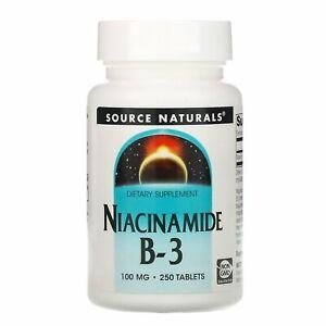 Source Naturals, Niacinamide B-3, 100 mg, 250 Tablets
