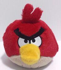 "Angry Birds Plush Red Bird Stuffed Toy w/ Sound/Noise Push Button on head EUC 5"""