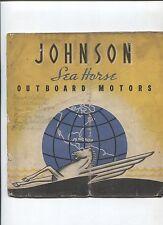 N°8830 / JOHNSON SEA HORSES outboard motors english text 1937