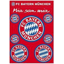 Aufkleber FC Bayern München 9er Bunt Aufkleberkarte Auto mia san mia Sticker FCB
