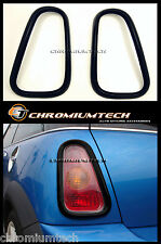 MK1 MINI Cooper/S/ONE R50 R53 BLACK Rear Tail Light Surround Cover Hatch ONLY