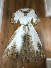 Zimmermann Freja Paisley Linen Dress Size 0, Genuine Bidder Only