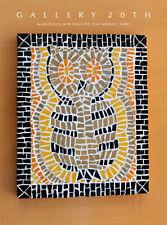MARVELOUS! MID CENTURY MODERN OWL TILE MOSAIC WALL ART! VTG 50S ATOMIC DECORATOR