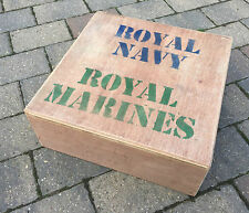 "Genuine Royal Navy / Marines 3/4"" Plywood Heavy Duty Promo Wooden Step Army Box"