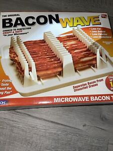 Emson Bacon Wave Microwave Bacon Cooker Tray Cooks14 Slices As Seen On TV NEW