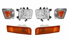 1992 -1995 TOYOTA 4RUNNER HEADLIGHTS, CORNER, & SIGNAL LAMP LIGHT COMBO (CHROME)