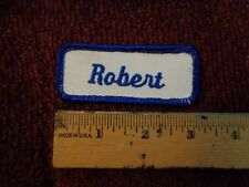 ROBERT Embroidered Name Patches Patch Blue & White 4 Shirt or Uniform Sew On