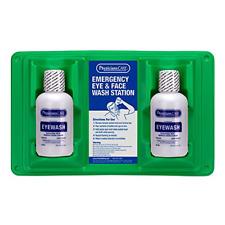 New listing Portable Emergency Eye Wash Station 2 Bottle Skin Flush Solution Kit Wall Mount