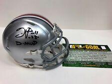 Ohio State Buckeyes Tyvis Powell Signed Riddell Mini Helmet 2014 D MVP w/COA