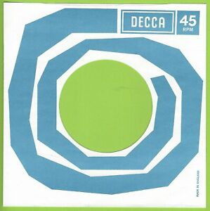 DECCA (blue & white) REPRODUCTION RECORD COMPANY SLEEVES - (pack of 10)