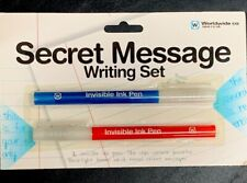 NPW SECRET MESSAGE WRITING SET invisible ink pens// send receive secret messages