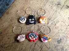 6 Wine Charms Handmade League Of Gentlemen Papa Lazarou Pauline Micky Tubbs