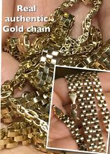 "26"" 4.8mm 20.2g  10K REAL GOLD ROLEX look Chain yellow  (ask 18 20 22 24 +"