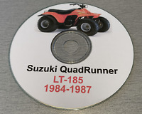 1984-1987 Suzuki Quadrunner LT185 LT 185 Service Repair Workshop Manual on CD