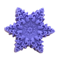 Silicone Soap Mold Candle Soap Making Mould Handmade Mold Christmas Snowflake