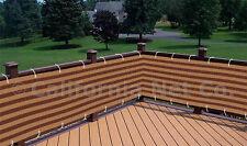 Brown / Khaki Outdoor Privacy Screen Net Sun Wind Shield - Deck, Balcony, Patio