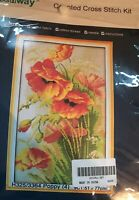 Benway Counted Cross Stitch Kit Poppy New