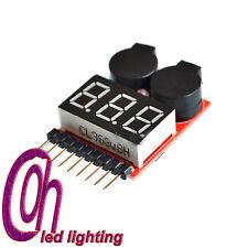 1PC 1-8S LED Low Voltage Buzzer Alarm Lipo Voltage Indicator Checker Tester